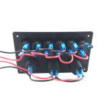 Painel azul do interruptor de balancim da montagem do resplendor do alumínio do barco do carro do rv