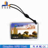 防水125kHzレーザーコードPVC RFID Keychainカード