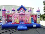 Aufblasbares Königin-Karikatur-federnd Schloss-aufblasbarer Spielplatz