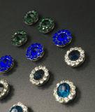 Горячий продавая Rhinestone кристалла 7mm в шить на Strass с Rhinestone установки когтя (TP-7mm полностью кристалл сапфира круглый)