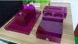 5개 피스 대리석 백색 아크릴 목욕탕 부속품 (조직 상자, 차 커피 홀더, Tootbrush 상자, 음료 홀더 etc.)