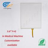 """Vidrio de cubierta del panel de tacto de la pulgada de la alta calidad de encargo 5.6 """" para la industria médica"""