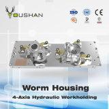 De 4-as Hydraulische Workholding van de Huisvesting van de Worm van de Inrichting van de Werktuigmachine van Nc