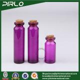 5ml 10ml 20ml de Purpere Gele Blauwe Fles van het Glas van de Kleur met Houten Cork Kleurrijke Lege Cork van het Glas Translucid Flessen