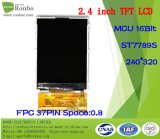 """2.4 """" étalage de TFT LCD de 240*320 MCU 16bit, IC : St7789s, FPC 37pin pour la position, sonnette, médicale, véhicules"""