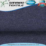 Tela de la tela cruzada del Knit del Spandex del algodón el 8% del añil el 92%