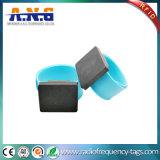 De Weerspiegelende Armbanden RFID Slapband van het silicone met Flexibel Roestvrij staal