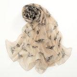 30のDの蝶印刷ポリエステルシフォンのスカーフ