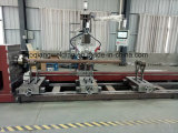 Línea corte de la intersección del plasma del CNC y soldadora