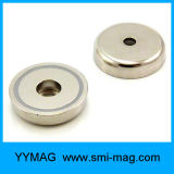 Магнитный магнит установки чашки неодимия агрегата с резиной покрыл