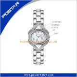 Edelstahl-Band-Quarz der Postar Frauen überwacht einfache Armbanduhr der Art-Dame-Uhr in China