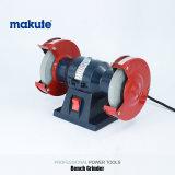 Верстачный шлифовальный станок машины 250W точильщика Makute промышленный миниый электрический