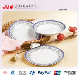 18PCS Decal Porcelain Square Shape Food Plate Usage pour Home Hotel