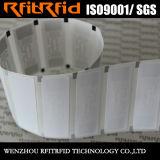 Tag pequenos da etiqueta do estrangeiro H3 RFID do tamanho do papel térmico