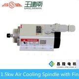 Axe refroidi par air à haute fréquence de l'axe 400Hz 24000rpm 1.5kw avec la bride d'Intalling