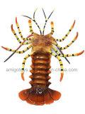 O tamanho grande imita o brinquedo da lagosta