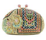 Saco de noite de design de elefante de luxo com cristais Estilos de animais Bolsas de festa Leb726