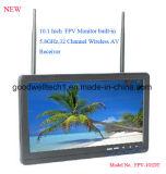 """10.1 """" de Monitor van 16:9kabeltelevisie LCD met de Draadloze Ontvanger AV van 32 Kanaal"""