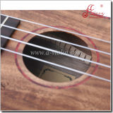Ukulele embutido celuloide hermoso superior sólido del instrumento de música de Koa (AU50)