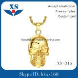 Juwelen van de Tegenhanger van de Schedel van de manier 18k de Goud Geplateerde