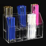 Contenitore acrilico di tazza della visualizzazione della penna delle 2 scanalature della fila 10