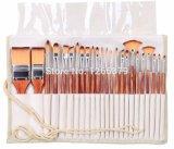 Комплект щетки искусствоа ручки синтетических волос высокого качества деревянный