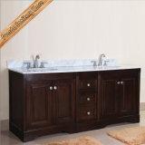 Шкаф ванны тщеты ванной комнаты темной вишни Fed-1665 переходной