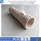 Sacchetto filtro della polvere per l'alloggiamento del filtro a sacco utilizzato per il sacchetto filtro di Aramid dell'accumulazione di polvere