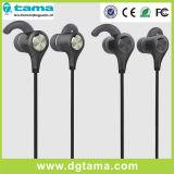 O rádio da em-Orelha do metal ostenta o fone de ouvido estereofónico dos auriculares de Earbuds do auscultadores de Bluetooth