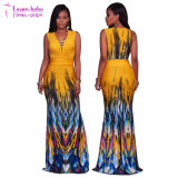Платье повелительницы Макси Мантии Clubwear Лета (L51412)