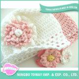 Chapéu de confeção de malhas do Knit do bebê do Beanie do fio de lãs do teste padrão