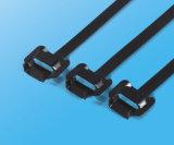 높은 장력 PVC는 케이블 동점 L 유형 스테인리스 Zip 동점을 입혔다