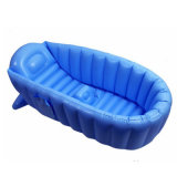 Vasca da bagno gonfiabile blu del PVC o di TPU di colore dei prodotti del bagno del bambino buona per i capretti