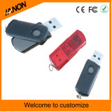 Mecanismo impulsor de encargo del flash del USB del plástico con su insignia