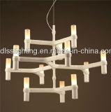 Disegno creativo di arte di stile semplice moderno per i lampadari a bracci delle candele del ristorante e del salone