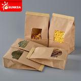 Sacchetto legato parte superiore della carta kraft del pane della pasta della noce del caffè dello stagno