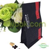 Китайский красный мешок плоского дна с карманной застежкой -молнией