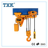 Gancho do dobro do ruído de Txk grua Chain elétrica do baixo 3 toneladas