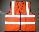 Тельняшка высокой безопасности видимости 120g отражательная (померанцовая)