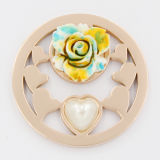 バレンタインデーのギフトの方法宝石類のための真珠が付いている中心の硬貨