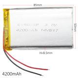 batería del Li-Po del litio del polímero 4200mAh 855085 para el juego video de la batería de reserva de la potencia del E-libro de la PC de la tablilla del GPS PSP DVD de la pista