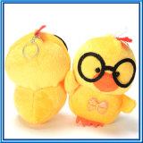 2017 Stuk speelgoed van Keychain van de Kip van de Haan van de Pluche het Gele met Suikergoed