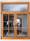 Fenêtre à battant en aluminium plaqué en aluminium à double vitrage