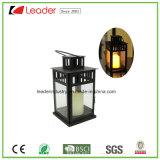 Lantaarn van de Kaars van het metaal de Witte met LEIDEN Licht voor de Decoratie van het Huis