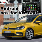 Interface vidéo de navigation GPS de voiture Android pour VW Golf 7, Touran, Passat, Variant, (MIB2) Navigation tactile de mise à niveau, WiFi, Bt, Mirrorlink, HD 1080P, Google Map
