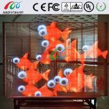 Visualizzazione di LED trasparente dell'interno di vetro per fare pubblicità