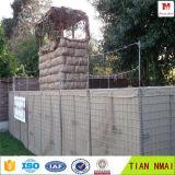 As forças armadas usam paredes/barreiras protetoras bastião de Hesco