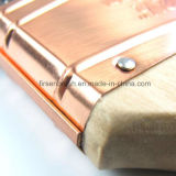 Профессиональной длинней двинутая под углом орденской лентой сплющенная синтетическая щетка краски нити с деревянной ручкой