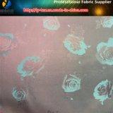 자카드 직물 꽃. 의복 안대기 (10)를 위한 능직물 호박단에 있는 폴리에스테 자카드 직물