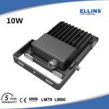 Luz de inundação ao ar livre 10W do diodo emissor de luz da alta qualidade IP66 Lighitng